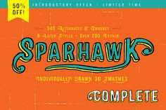 Check out 50% Off-Sparhawk Complete Family by Albatross on Creative Market