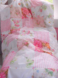 Summer vintage patchwork quilt