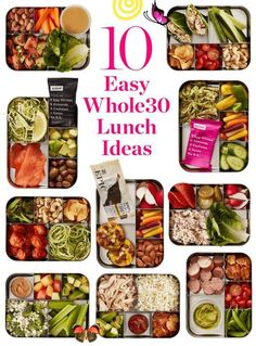 10 Easy Whole30 Lunch Ideas Whole30 Lunch Ideas to Pack for Work. Need recipes and ideas for packing wholesome and healthy whole 30 lunches and meals to take to the office? The easy prep for these clean eating meals on the go make them simple wins. #cleanhealthysnacks<br> Make-ahead Whole30 meals that are anything but boring. Whole 30 Meal Plan, Whole 30 Lunch, Whole 30 Diet, Whole 30 Breakfast, Lunch To Go, Whole 30 Snacks, Lunches On The Go, Whole 30 Menu, Whole 30 Rules