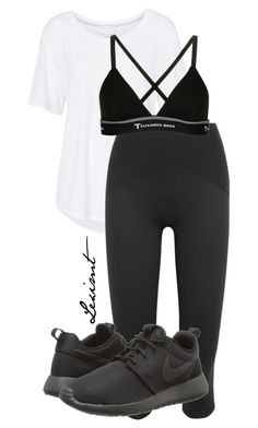 Untitled #618 by leximt on Polyvore featuring polyvore, fashion, style, Witchery, SPANX, T By Alexander Wang, NIKE and clothing