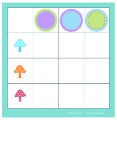 Board for the mushroom round frame matrix. By Autismespektrum.