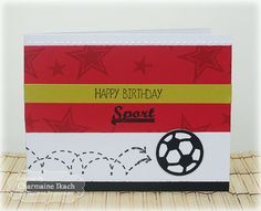 Happy Birthday Sport Card by Charmaine Ikach #Cardmaking #Birthday