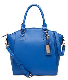 Generic Women's One Tone Blue Leather Handbag Large >>> Be sure to check out this awesome product.