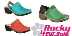 Style and Versatility That Has No End Available in a variety of colors and materials, Rocky 4EurSole shoes are ideal for nurses, doctors, teachers and hair stylists. Wear them on and off the job; for gardening, shopping, sight-seeing, cooking, walking or traveling.