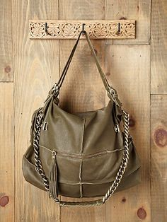 soft leather, slouchy bag. i like this one in tan rather than olive #freepeople