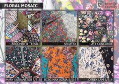 Textile Candy: Premiere Vision Spring/Summer 2017, floral mosaic, floral patchwork, bohemian fashion trend, Mary Katrantzou S/S16, BCBG Max Azria, Derek Lam, floral collage