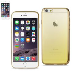 Reiko Iphone6/6S Plus 5.5 Inches Frame Gradient Clear Glitter Case With Shiny Bumper-Gold