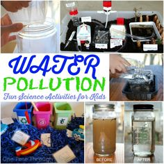 Find Water Pollution for Kids activities including instructions to make a homemade water filter and a model water treatment plant. Perfect for Earth Day! Earth Day Activities, Science Activities For Kids, Science Fair Projects, Stem Activities, Water Experiments For Kids, Environmental Education, Education Jobs, Education Center, Science Education