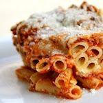 Healthy Three Cheese Chicken Penne Pasta Bake