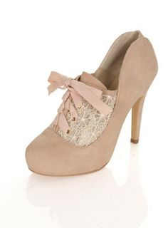 KERRY Cream Town Shoe - Heels - Shoes - Miss Selfridge from Miss Selfridge. Pretty Shoes, Beautiful Shoes, Cute Shoes, Me Too Shoes, Awesome Shoes, Tie Up Heels, High Heels, Shoes Heels, Lace Heels