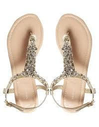 Buy New Look Fossil Gold Bling Thong Flat Sandals at ASOS. With free delivery and return options (Ts&Cs apply), online shopping has never been so easy. Get the latest trends with ASOS now. Bling Sandals, Cute Sandals, Flat Sandals, Bridal Flats, Wedding Flats, Wedding Fun, Prom Shoes, Dress Shoes, Fossil