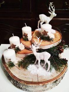 Christmas Advent Wreath, Diy Christmas Decorations Easy, Rustic Christmas, Christmas Art, Christmas Projects, Christmas Crafts, Winter Christmas, Christmas Arrangements, Christmas Centerpieces