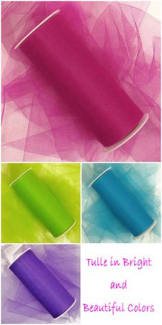 "3"" - 18"" Tulle Rolls in Beautiful Colors are the Perfect Supplies for Making Tutus, Tulle Wreaths, Tulle Pom Poms and More! #tulle"