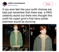 When Rupert Grint inadvertently became the poster boy for uplifting advice:
