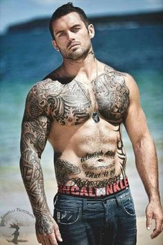Hot Guy Chest Tattoos