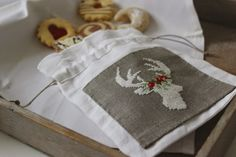 Cross stitch pattern (free) deer head with antlers