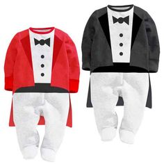 Newborn baby boy girl clothes ,kids bebes baby romper long sleeve 0-24M gentleman with shawls red and black .baby clothing