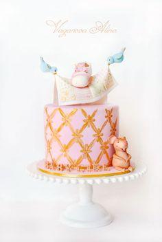 cake for newborn girl