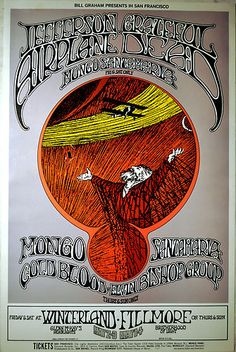 Jefferson Airplane & Grateful Dead 1969 Concert POSTER