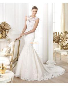 Kostel Délka dvorní Krajka Svatební šaty 2014