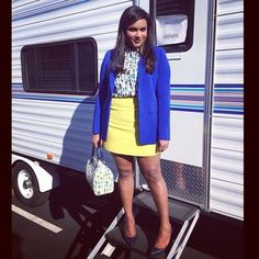 This bright, boss bitch outfit. | 25 Photos That Definitively Prove Mindy Lahiri Is TV's Best Dressed Character