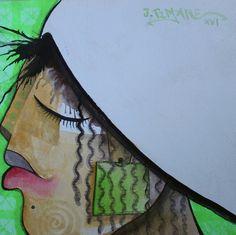 rosto, pintura de João Timane
