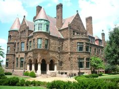 Cupples Mansion in St. Louis, Missouri. The 42 room castle-like finished construction in 1890 & is now a museum.