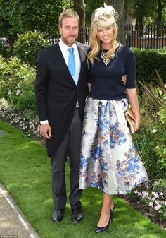 Friends in high places: Ben Fogle, a personal friend of Princes William and Harry, arrives...