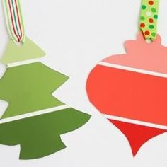 Paint Chip Gift Tags - could make this year round depending on the shape and color. This would be a great idea with a baby bottle and pink or blue or even yellow or green if you don't know the sex of the baby....SO cute and cheap. I may have to pick me up some paint chip cards the nex time I am the store.