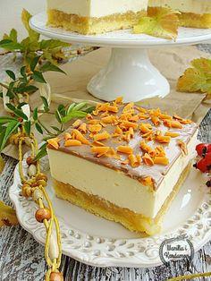 Wanilia i Kardamon: Serniko-szarlotka Polish Desserts, Polish Recipes, Cheesecake Recipes, Dessert Recipes, First Communion Cakes, French Desserts, Homemade Cakes, Christmas Baking, No Bake Cake