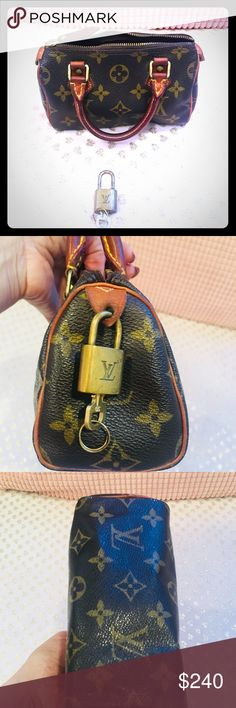 🌻 Louis Vuitton Mini Speedy ❤️ Authentic LV mini, Great condition! I will clean it before I ship it . No tears, no damage, just bit too much love ❤️😉. We have great time going clubbing but those nights are over 🙃. It's time for mini to find another partner in crime 😂😂 or a little girl with Great taste 💗 Price to sell 🛍🎈 Louis Vuitton Bags Clutches & Wristlets