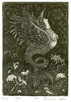 Marina Teraud bookplate - from a great bookplate blog