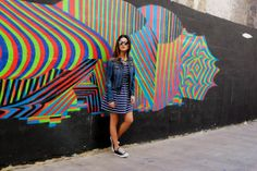 Valencia day 2: Casual Chic in Stripes | Negin Mirsalehi