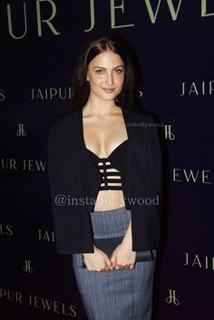 Elli Avram HD Pics in black Dress from Jaipur Jewels collection launch