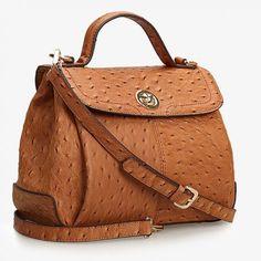 Derma | ostrich-print-genuine-leather-cross-body-handbag