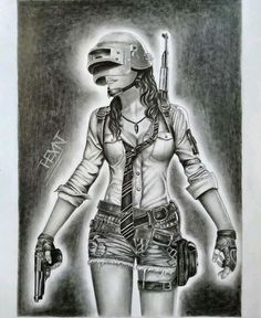 Le plus récent Instantanés pubg girl Astuces Pencil Drawings Of Girls, Easy Drawings Sketches, Iron Man Drawing, Cute Baby Quotes, Human Sketch, Sketch Free, Graffiti Drawing, Character Sketches, Girl Sketch