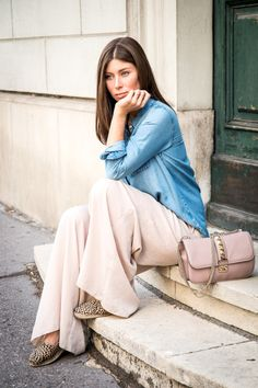 OUTFIT: palazzo meets denim