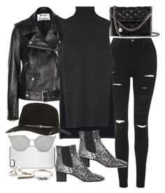 """""""Untitled #10795"""" by theleatherlook ❤ liked on Polyvore featuring STELLA McCARTNEY, Acne Studios, Topshop, Zero Gravity, ADAM, Isabel Marant, GANT and Rosa Maria"""