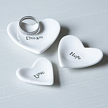 Set of 3 ceramic hearts with printed wording Dream, Hope & Love. Made from lovely glazed white porcelain, with old fashioned typewriter style text. Old Fashioned Typewriter, Shabby Chic Accessories, Hope Love, Live Laugh Love, Family Love, Letters And Numbers, Diy Projects To Try, Vintage Home Decor, Decorative Items