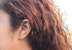 Gold Big Dipper earrings Big Dipper gold plated by karlasdesign, $19.50