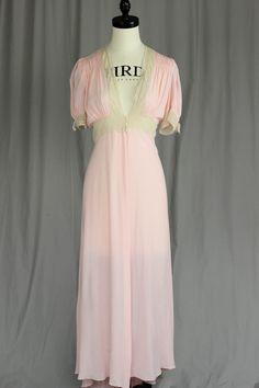 "Vintage Pink and Beige ""Lady Leonora"" Peignoir"