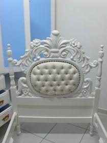 Ateliando - Customização de móveis antigos: Quarto Antigo Provençal Branco