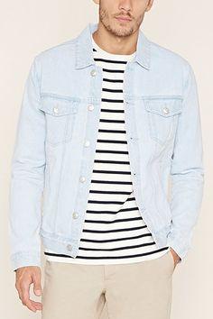 Flap-Pocket Denim Jacket