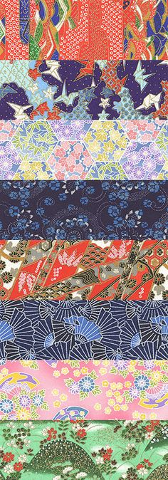 I can think of all KINDS of projects to use these beautiful textures for, Wrapping paper comes immediately to mind!  32 Beautiful Japanese Paper Textures