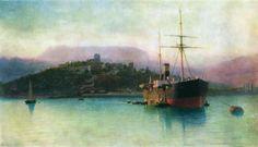 Лагорио Лев Феликсович(1826-1905). Алушта.1889. х.,м.74×126.Феодосийская картинная галерея им.И.К.Айвазовского