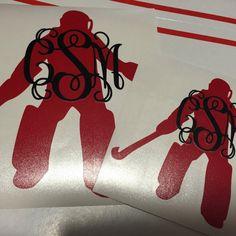 Field Hockey Goalie Monogram Decal Choose your by ChicksDigVinyl