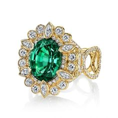 Green tourmaline Suzie ring by Erica Courtney