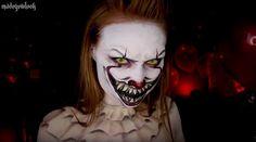 """Madeyewlook schminkt sich wie Pennywise aus """"Es""""  Gerade sorgt die Verfilmung von Stephen Kings Buch """"Es"""" für reichlich Grusel in unseren Kinos. Da liegt es doch nahe, sich dieses Jahr zu Halloween..."""