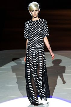 Spring 2013 Fashion Trends Brought Home: Black and White.  Louis Vuitton spring 2013