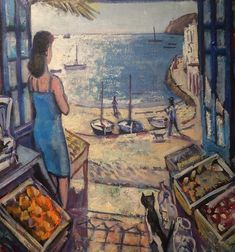 Places In California, Window View, Art Studios, Oil On Canvas, Pink Ladies, Profile, Sunset, Artist, Painting